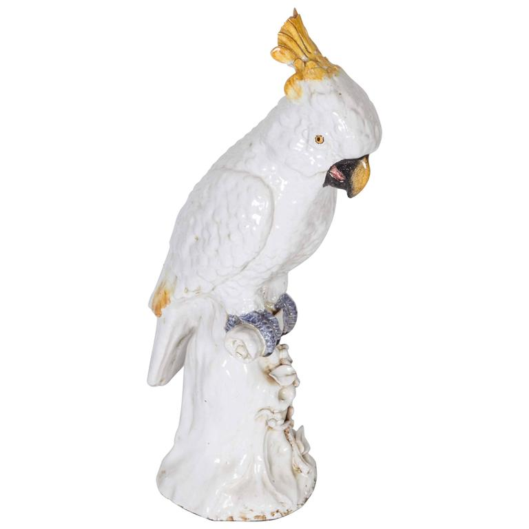Meissen Style Porcelain Model of a Cockatoo 1
