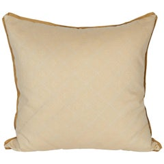 A Fortuny Fabric Cushion in the Jupon Pattern