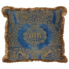 Single Vintage Fortuny Fabric Cushion