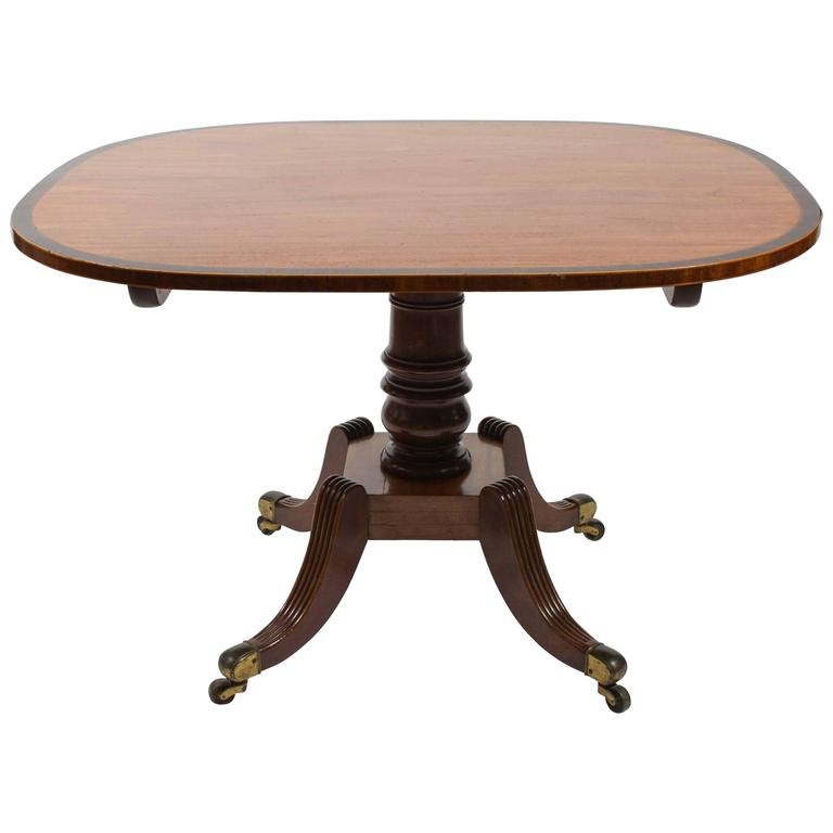 Regency English Mahogany Breakfast Tilt-Top Table