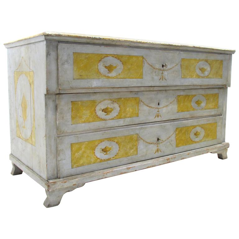 Italian Neoclassical Painted Chest of Drawers