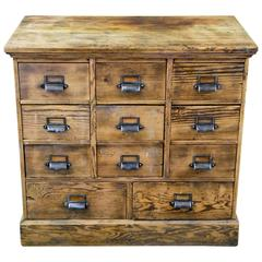 1910 Wooden Multi Drawer Apothecary Cabinet