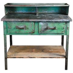1920 Metal Industrial Foreman's Desk