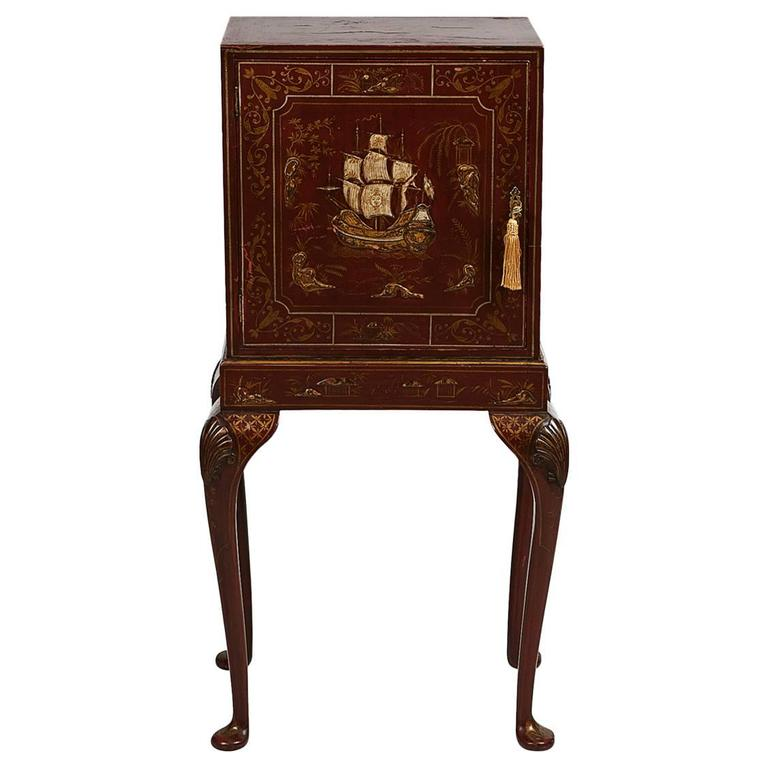 19th Century Chinoiserie Cabinet on Stand, with Fitted Interior For Sale