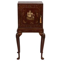 19th Century Chinoiserie Cabinet on Stand, with Fitted Interior