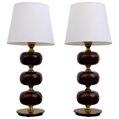 Pair of Swedish Table Lamps by Tranås Stilarmatur, 1950s