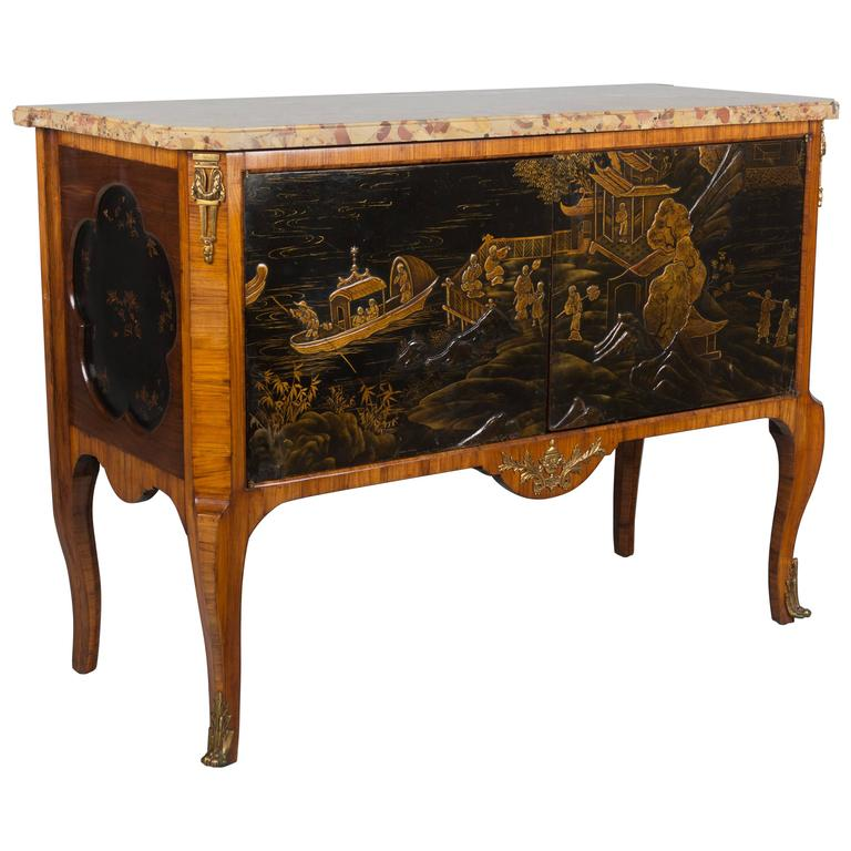 Louis XVI Style Chinoiserie Buffet or Sideboard at 1stdibs