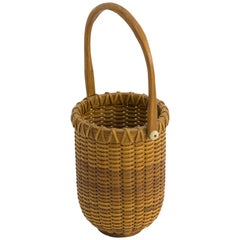Small Open Round Nantucket Lightship Basket by Paul Willer