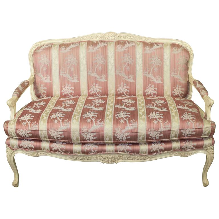 Louis XV Style Settee with Painted Finish