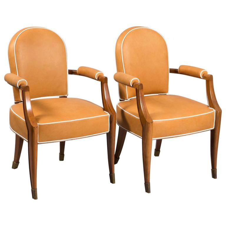 Pair of French Deco Armchairs 1