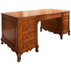 Louis XV Style Walnut Partners Desk