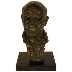 Bronze Statue, Depicting Picasso, 1975