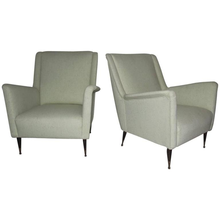 Elegant Exceptional Italian Armchairs in the 1950s
