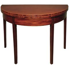 Antique Sheraton Period Mahogany Tea Table