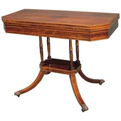 Early 19th Century Regency Period Rosewood Card Table