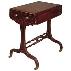 Antique Regency Period Mahogany Side Table