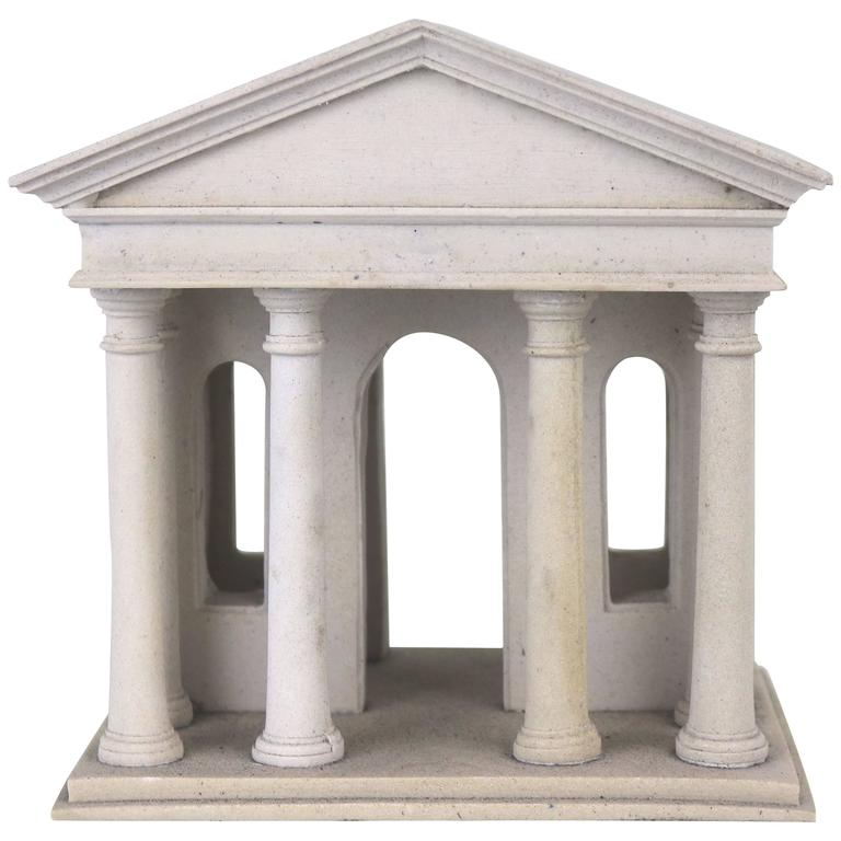 Vintage architectural model of an early greek temple for for Architecture models for sale