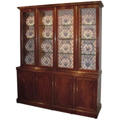 Early 19th Century Mahogany Display Bookcase
