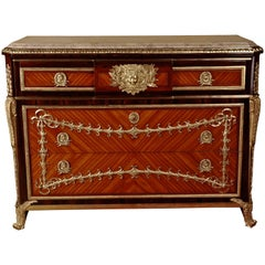 20th Century Transition Style Commode after Jean Henri Riesener