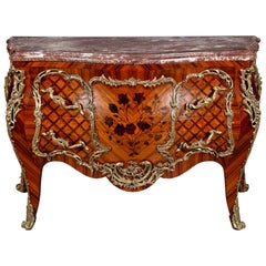 20th Century Louis XV Style Rosewood French Commode