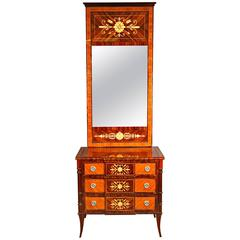 20th Century Classicist Style Palisander Mirror Commode