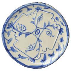 Pablo Picasso Madoura Ceramic Plate Four Enlaced Profiles, 1949