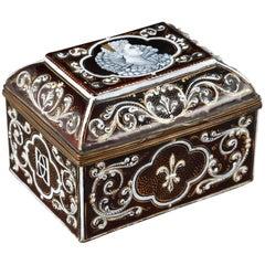 Late 19th Century Limoges Enamel Keepsake Box