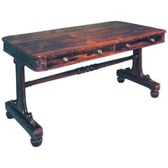 Regency rosewood writing table