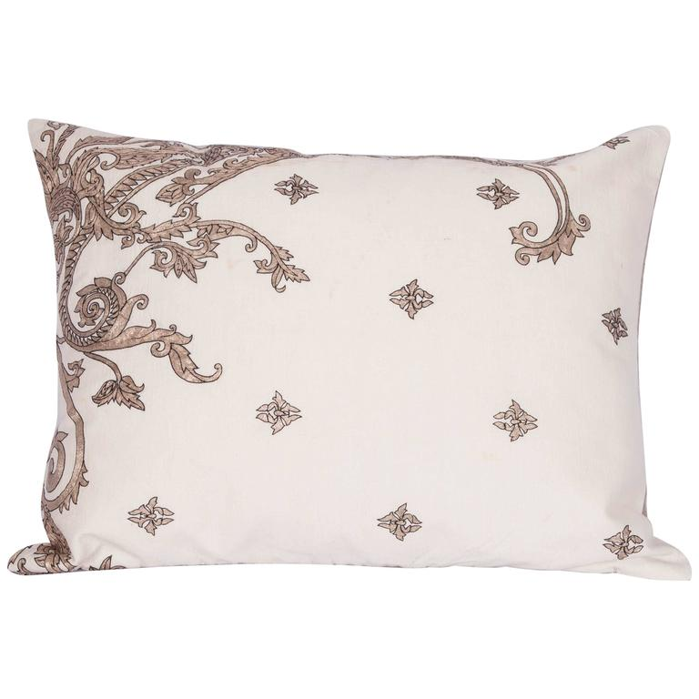 Antique Pillow Made Out of a 19th century or Earlier European Silver Embroidery For Sale