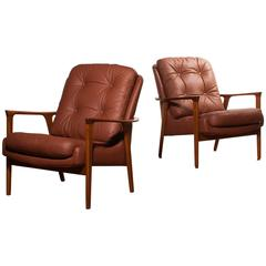1960s, Beautiful Set of Lounge Chairs by Inge Andersson for Bröderna Andersson