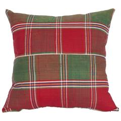 Pillow Made Out of a Mid-20th Century Turkmen Silk Shawl
