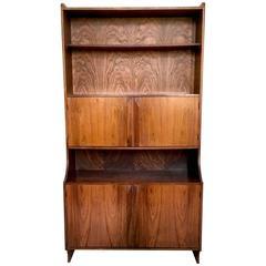 Majestic Italian Wooden Bookcase, 1960s