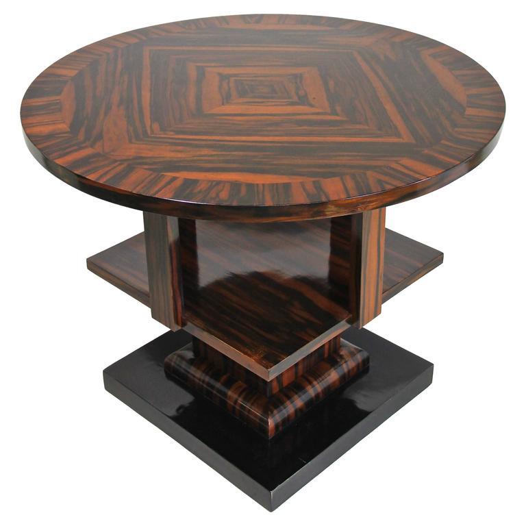 Art Deco Macassar Side Table, Vienna circa 1920