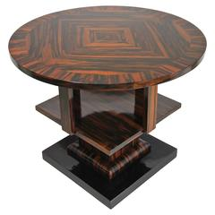 Art Deco Macassar Side Table, Vienna circa 1920