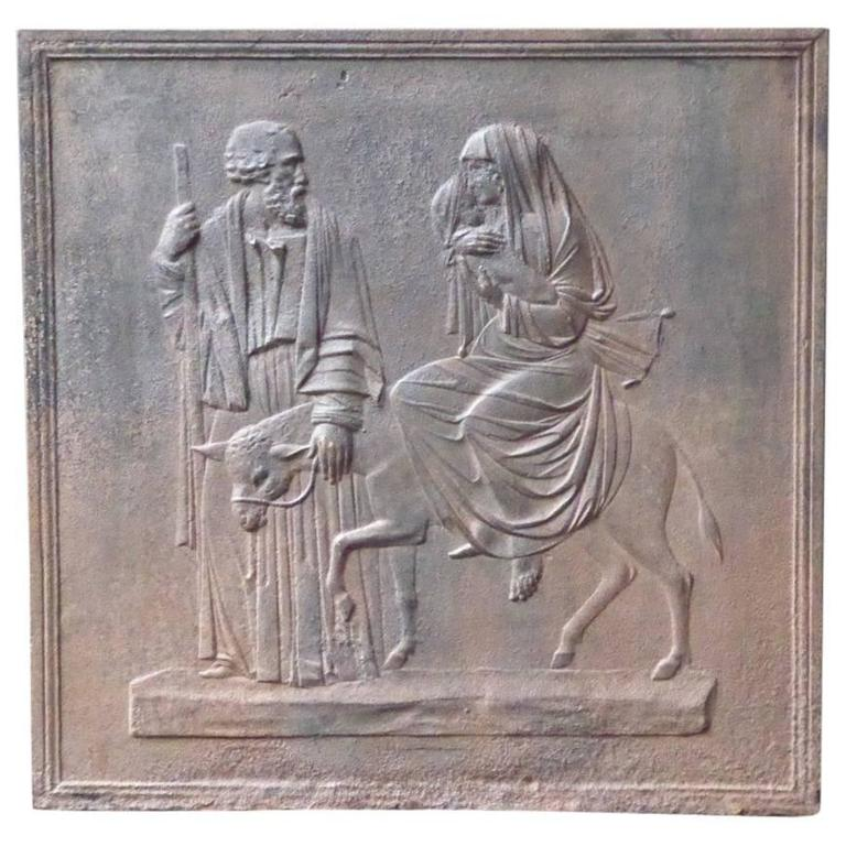 19th Century 'Mary and Joseph' Fireback For Sale