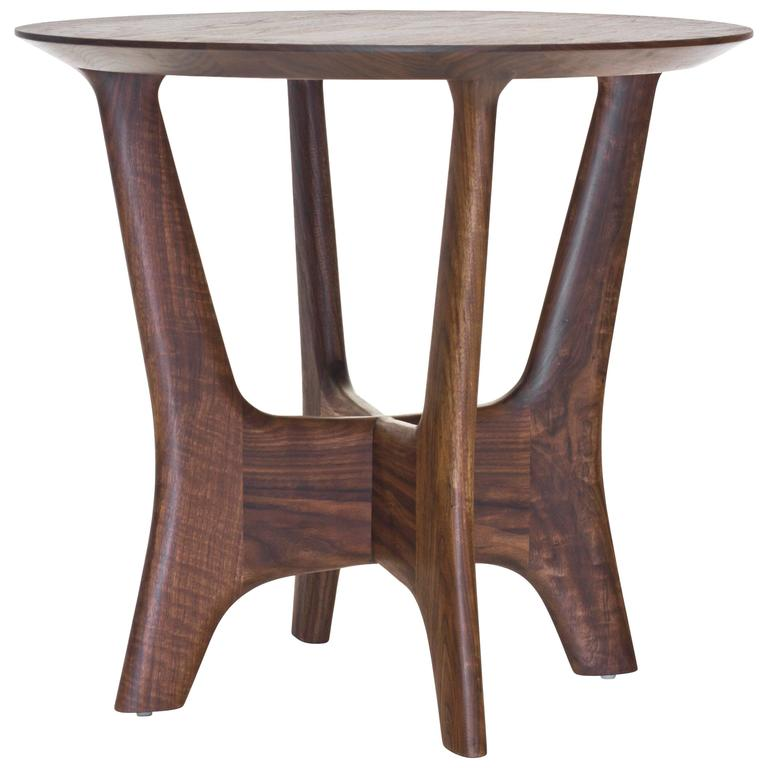 Sträcka End Table In Solid Walnut By Mack Geggie For Wooda