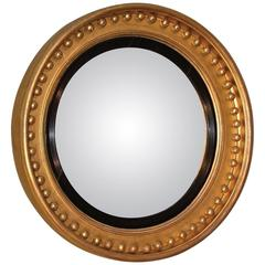 Early 19th Century Regency Period Giltwood Convex Mirror