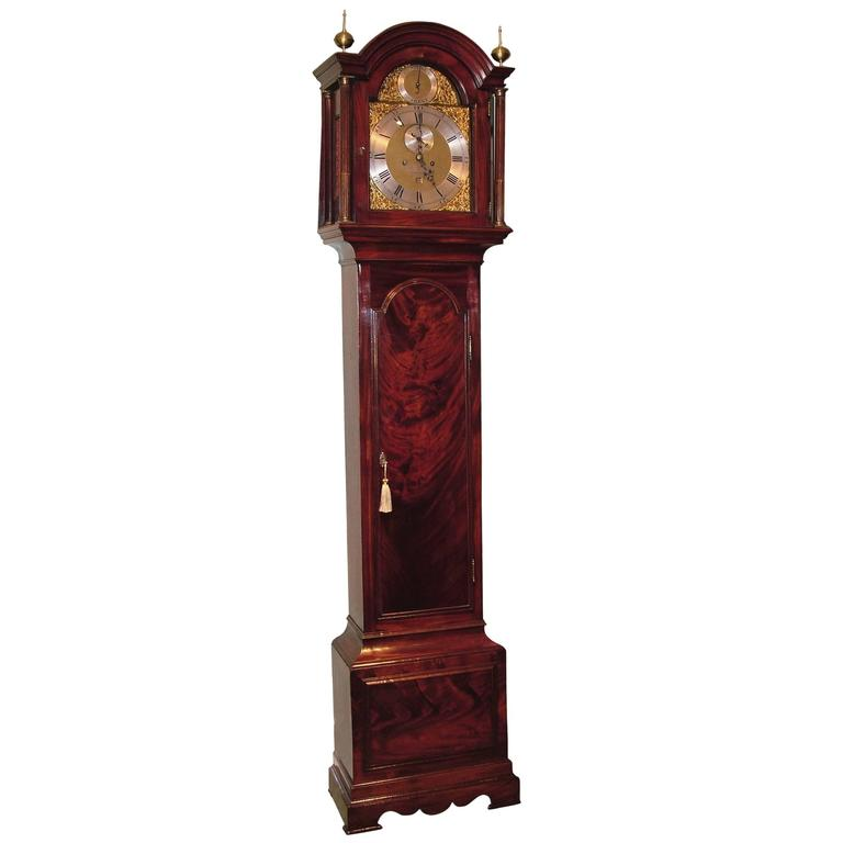 18th Century mahogany long case clock, by B. Francis of Gravesend