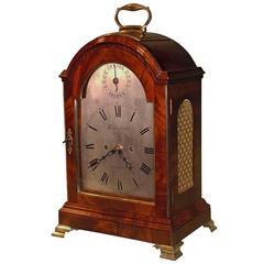Late 18th Century Mahogany Case Bracket Clock by Thomas Satcher