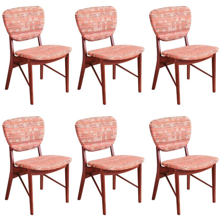 Set of Six Teak Dining Chairs by Niels Vodder 1