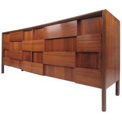 Edmond Spence Walnut Sculpted Front Dresser