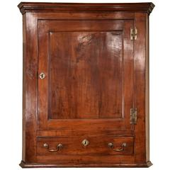 Solid Yew Wood Corner Cupboard