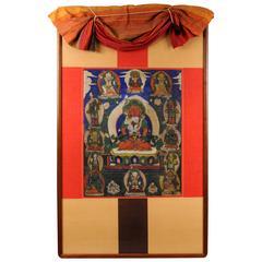 Framed Antique Tibetan Thangka