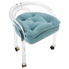 Mid-Century Modern Charles Hollis Jones Style Lucite Chair