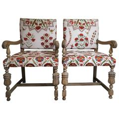 Pair of Antique Suzani Armchair