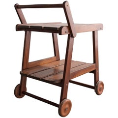 """Tajá"" Tea Cart in solid rosewood by Sergio Rodrigues, 1975"