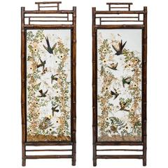 Hummingbird Taxidermy Screens, by Rowland Ward, 19th Century, English