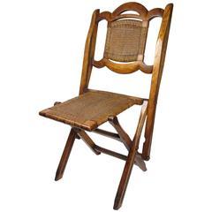 19th Century Edwin Skull 'Plectaneum' Folding Campaign Chair