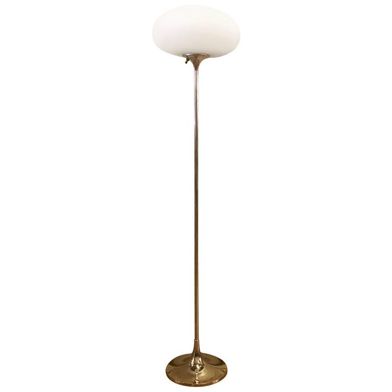 Chrome Mushroom Floor Lamp by Laurel Lamp Company