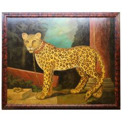 Grand Scale Painting of Leopard by Wm.Skilling